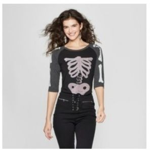Zoe + Liv Size XXL Black Skeleton Shirt
